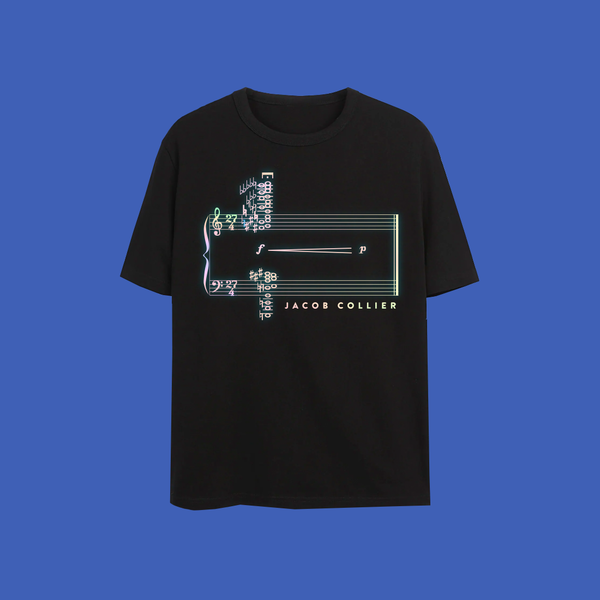 Jacob Collier: 27 chord t-shirt LIMITED EDITION (black)