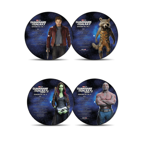 Various Artists: Guardians of The Galaxy Vol.1 and Vol.2 Picture Disc Bundle
