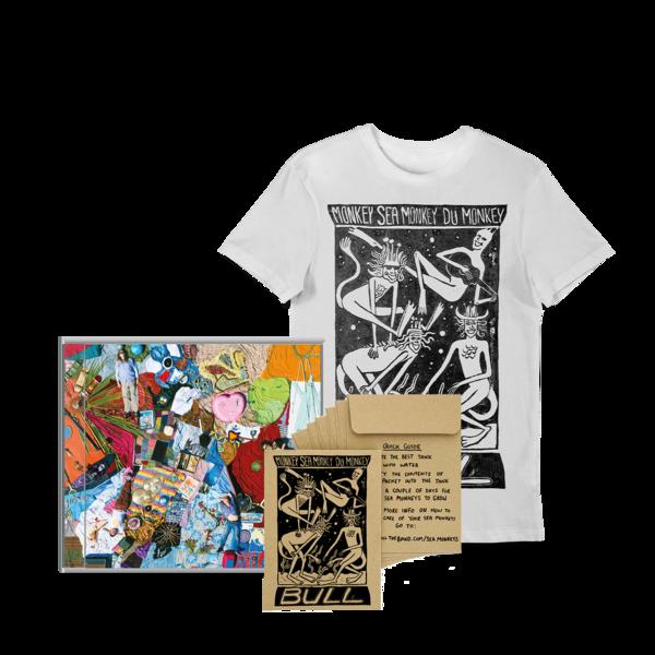 Bull: 'Monkey Sea Monkey Dü Monkey' T-shirt, CD + Free Sea Monkey bundle!