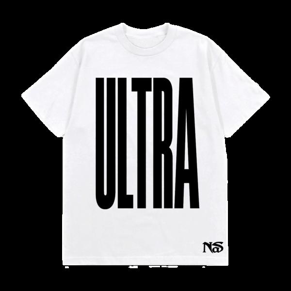 Nas: ULTRA BLACK WHITE TEE