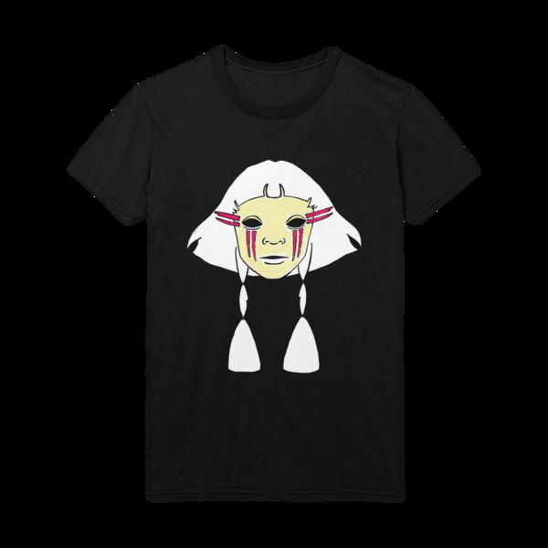 Aurora: AURORA face drawing black t-shirt - M