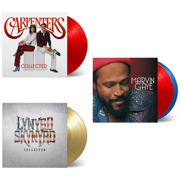 Various Artists: The Sound Of Collected: Marvin Gaye, The Carpenters & Lynyrd Skynyrd Limited Edition Colour Vinyl Bundle