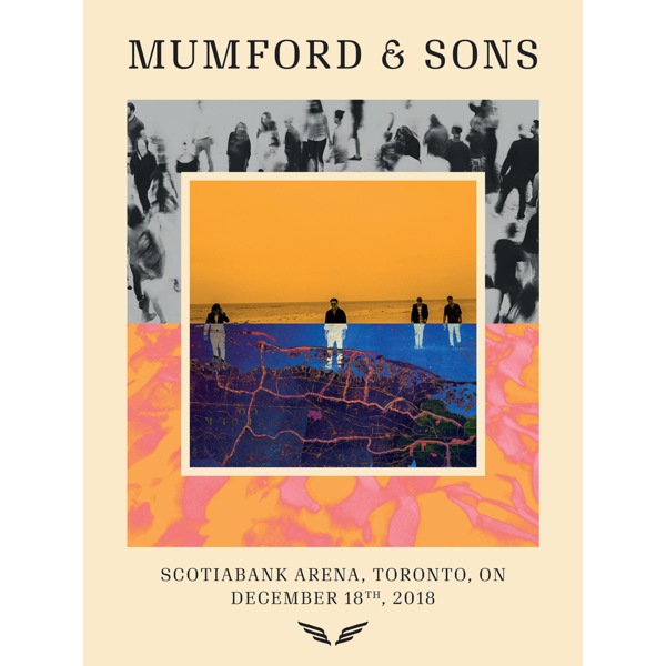 Mumford & Sons : Toronto Delta Tour Print