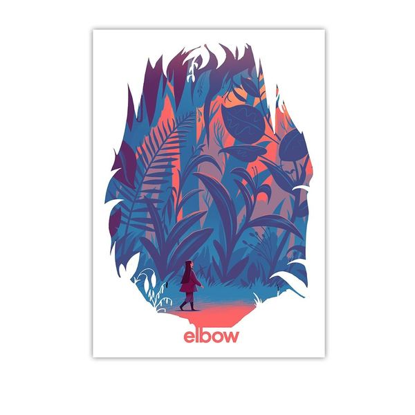 Elbow: Forest Lithograph Print