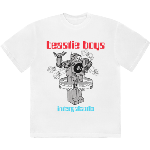 Beastie Boys: WHITE INTERGALACTIC T-SHIRT
