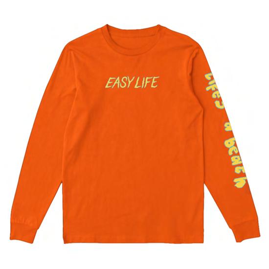 Easy Life: orange life's a glitch longsleeve tee