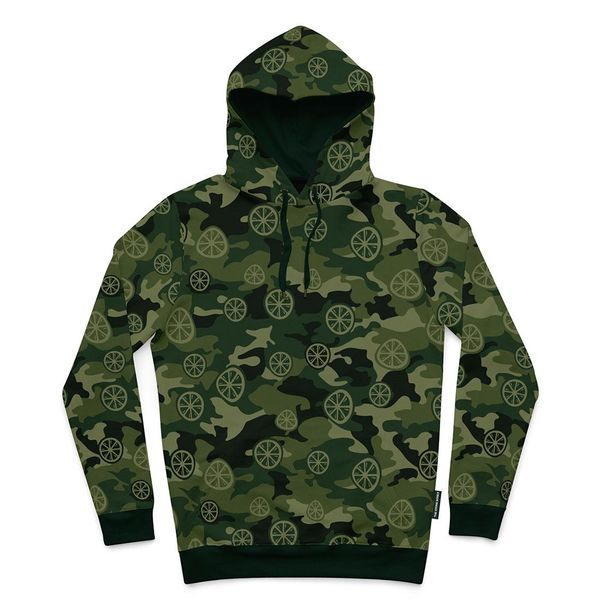 The Stone Roses: Green Camo Hoodie