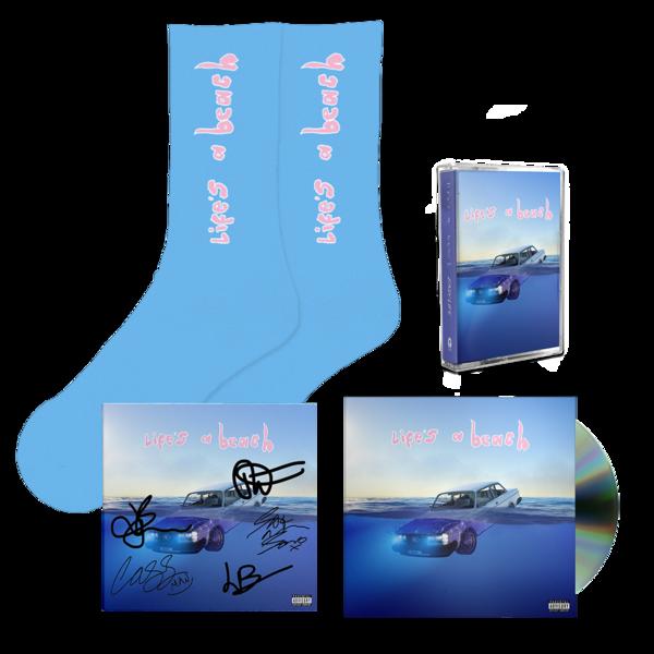 Easy Life: life's a beach: cassette, cd, socks + signed art card