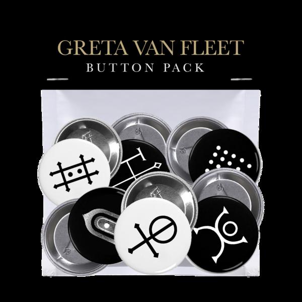 Greta Van Fleet : 'THE BATTLE AT GARDEN'S GATE' BUTTON PACK