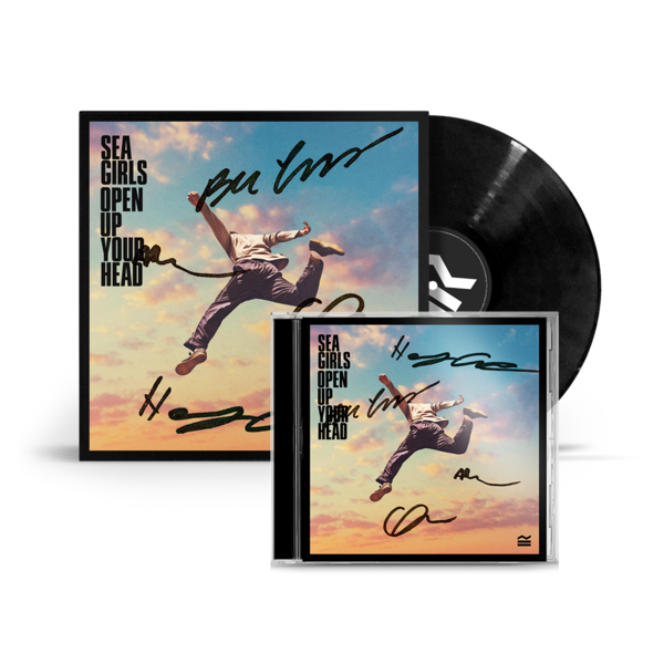 Sea Girls: Signed Open Up Your Head Vinyl & CD Bundle