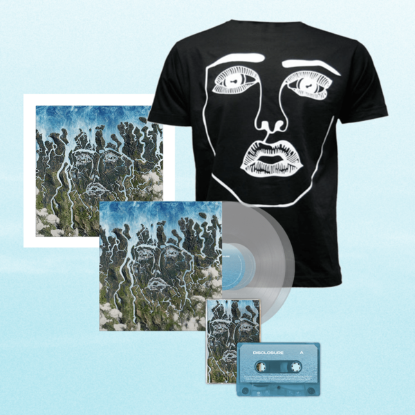 Disclosure: Black Classic Face Tee, Clear LP, Cassette + Signed Art Card