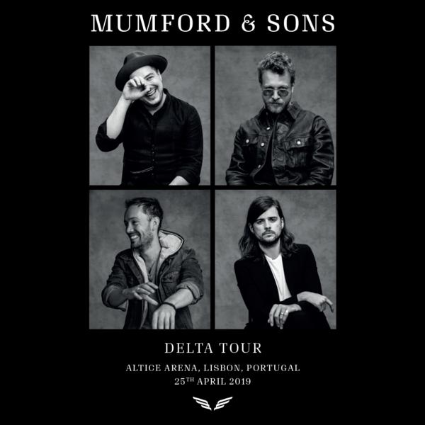 Mumford & Sons : European Delta Tour Portrait Print 2019 (Lisbon)