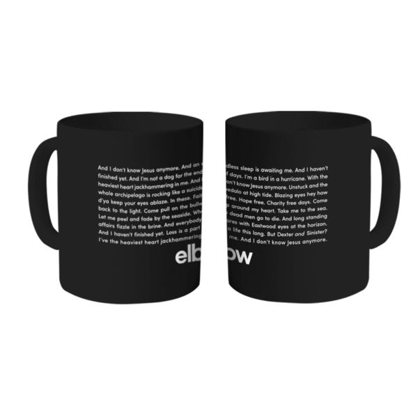 Elbow: Empires Lyric Black Mug