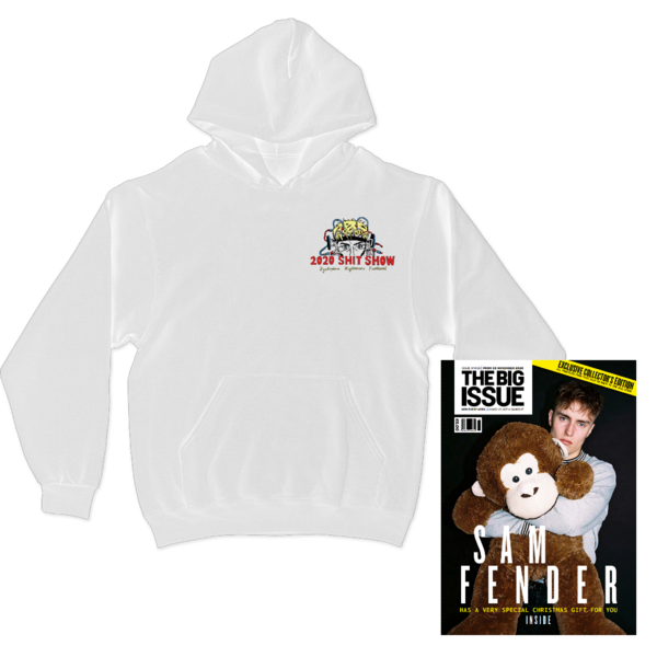 Sam Fender: Shit Show White Hoodie + The Big Issue Special Edition