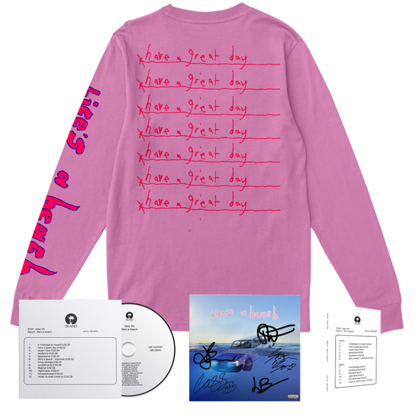 Easy Life: life's a beach: have a great day longsleeve bundle + signed artcard