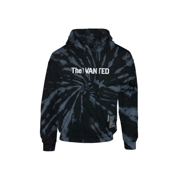 The Wanted: Most Wanted Tie Dye Tracklist Hoodie