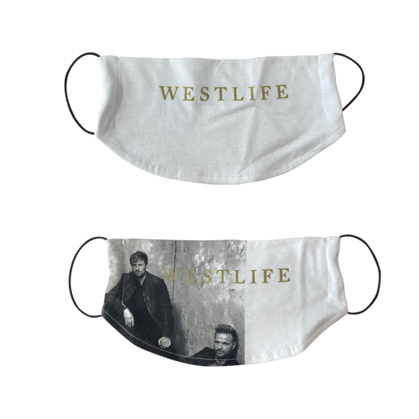 Westlife: PAIR OF RECYCLED WESTLIFE FACEMASKS