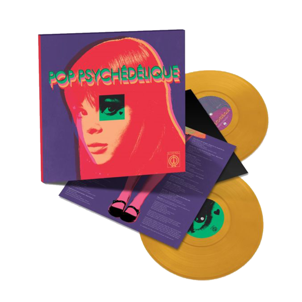 Various Artists: Pop Psychédélique (The Best of French Psychedelic Pop 1964-2019): Limited Edition Yellow Vinyl 2LP