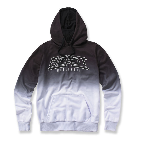 Beast Worldwide: Dip Dye Hood (Black/White)