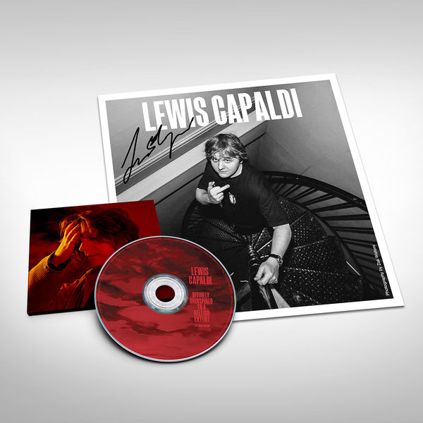 Lewis Capaldi: Limited Edition Signed B&W  Print & Extended Edition Clear Jewel Case