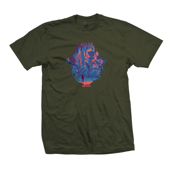 Elbow: Military Green Forest T-Shirt