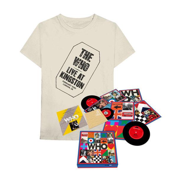 "The Who: The Who – 'WHO' (7"" Boxset w/ Live At Kingston CD) + T-Shirt"