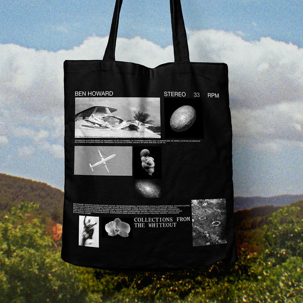 Ben Howard: COLLECTIONS FROM THE WHITEOUT: TOTE BAG (BLACK)