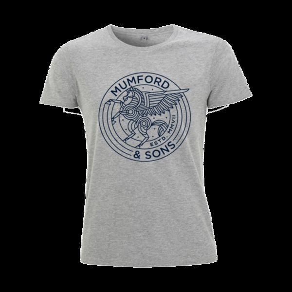 Mumford & Sons : Pegasus T-Shirt (Melange Grey) - S