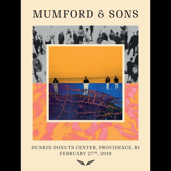 Mumford & Sons : N. America Delta Tour Print 2019 (Providence)
