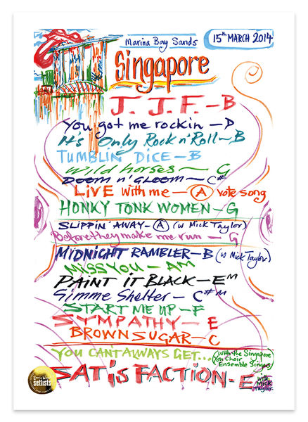 Ronnie Wood: Show 7, Marina Bay Sands, Singapore Singapore 15 March 2014 Lithograph