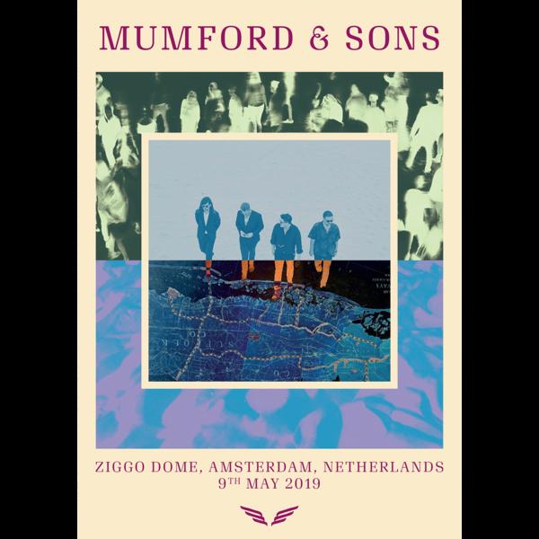 Mumford & Sons : European Delta Tour Print 2019 (Amsterdam)