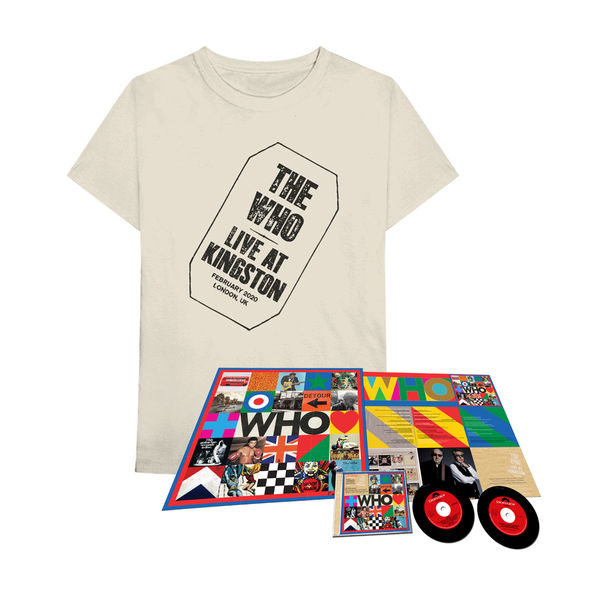 The Who: 'WHO'(2020 Deluxe CD w/ Live At Kingston) + T-Shirt