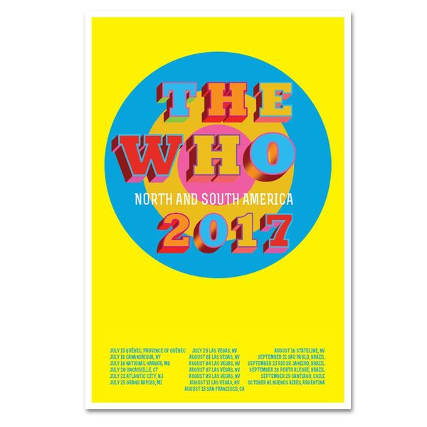 The Who: American Tour 2017 Lithograph Print