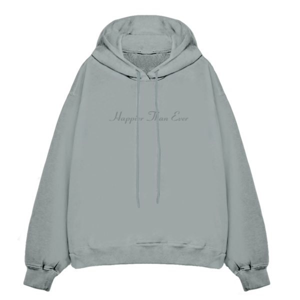 Billie Eilish: Happier Than Ever Dusty Blue Hooded Sweatshirt