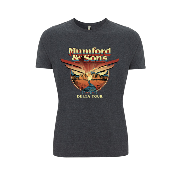Mumford & Sons : Delta World Tour T-Shirt - L