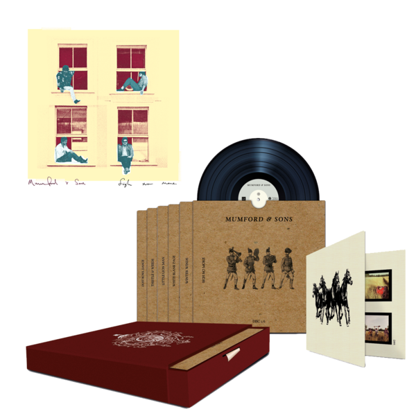 """Mumford & Sons : Sigh No More Limited Edition 7"""" Boxset + Numbered Lithograph"""