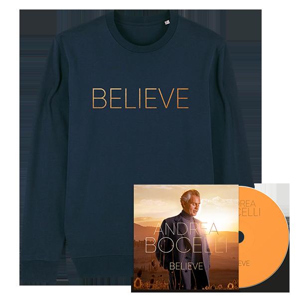 Andrea Bocelli: Believe CD & Sweater Bundle