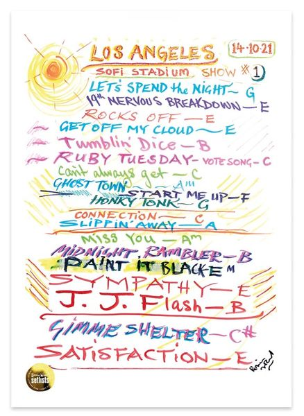 Ronnie Wood: Show 22, SoFi Stadium , Los Angeles, California 14 October 2021 Lithograph