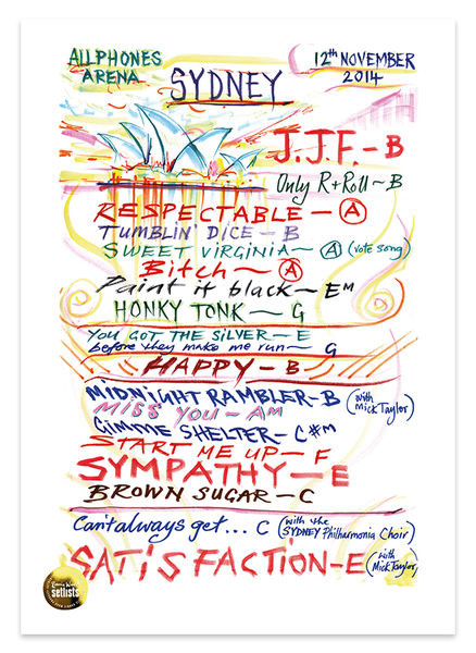 Ronnie Wood: Show 26, Allphones Arena, Sydney Australia 12 November 2014 Lithograph