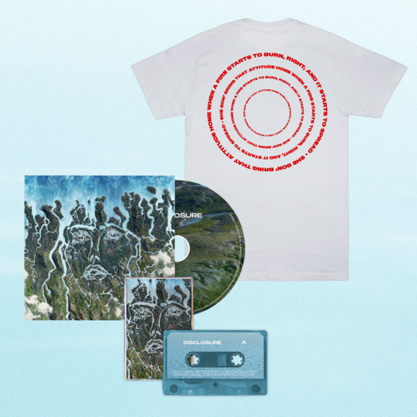 Disclosure: When A Fire Starts To Burn Tee, CD + Cassette