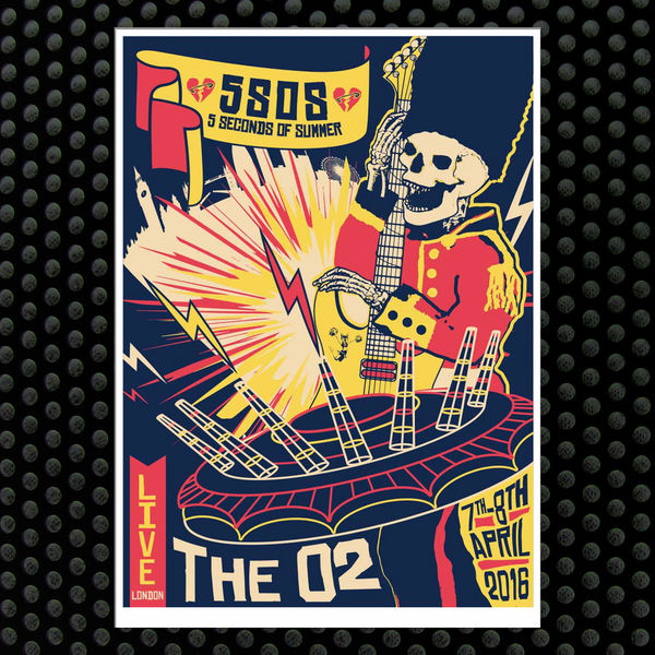 5 Seconds of Summer: London April 7th - 8th Event Litho