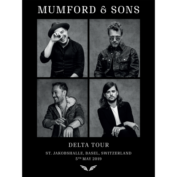 Mumford & Sons : European Delta Tour Portrait Print 2019 (Basel)