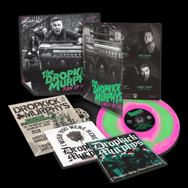 Dropkick Murphys: Turn Up That Dial: Deluxe Pink + Green Swirl Vinyl, 7