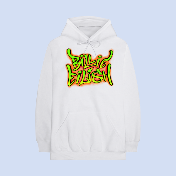 Billie Eilish: graffiti hoodie