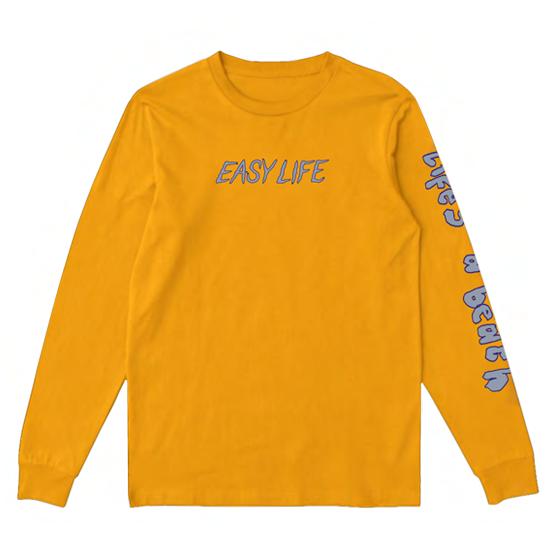 Easy Life: yellow life's a glitch longsleeve tee