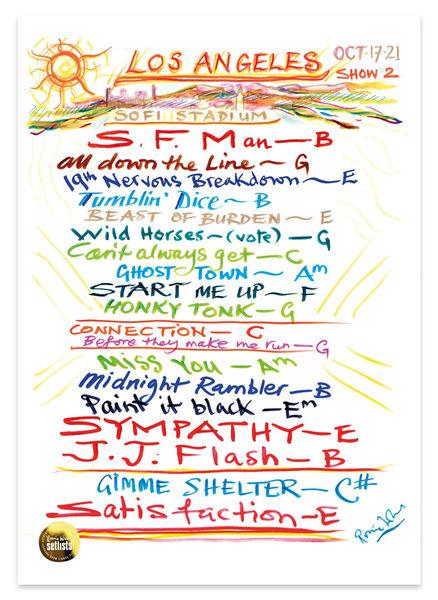 Ronnie Wood: Show 23, SoFi Stadium , Los Angeles, California 17 October 2021 Lithograph