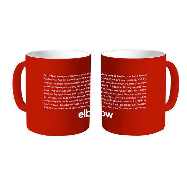 Elbow: Dexter & Sinister Lyric Red Mug
