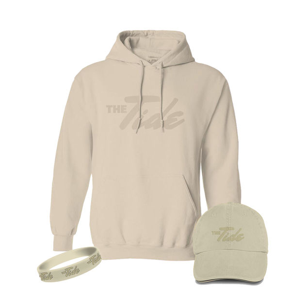 The Tide: Sand Hoodie, Hat & Wristband