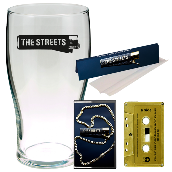 The Streets: None Of Us Are Getting Out Of This Live Alive: RIZLA, 2 PINT CUPS + SIGNED GOLD CASSETTE