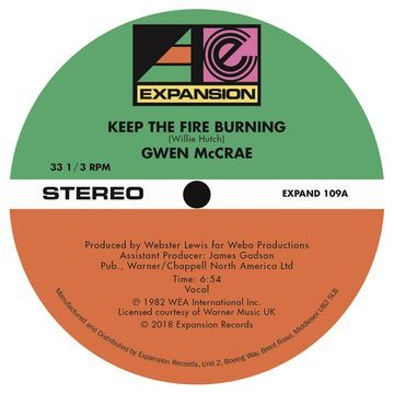 Gwen McCrae: Keep The Fire Burning / Funky Sensation